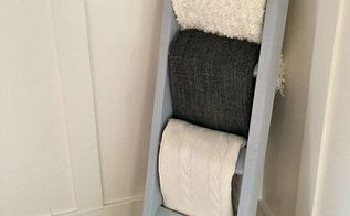 one hour blanket ladder, diy, home decor, repurposing upcycling, woodworking projects