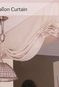 diy no sew balloon curtain, home decor, kitchen design, reupholster, window treatments