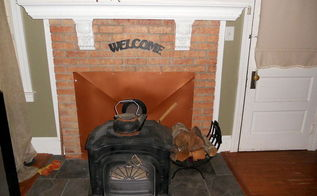 painted brick fireplace, fireplaces mantels, home decor, hvac, Fireplace conversion