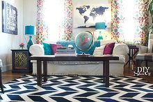 eclectic family room makeover, home decor, living room ideas, colorful family room
