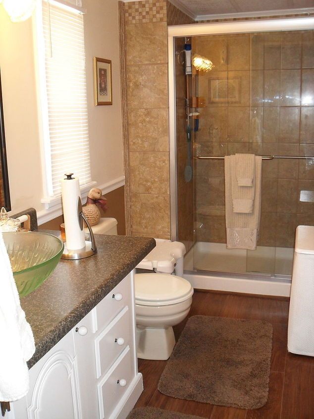 repainted all the walls in our mobile home and redone our kitchen bathroom ideas - How To Remodel A Mobile Home Bathroom