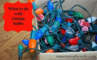 recycle vintage christmas lights, lighting, repurposing upcycling, seasonal holiday decor