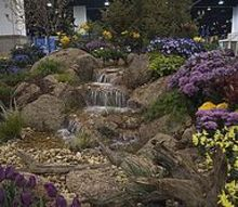 its garden and home show season in colorado, outdoor living, ponds water features, Moss rock from Colorado enhances this beautiful pondless waterfall