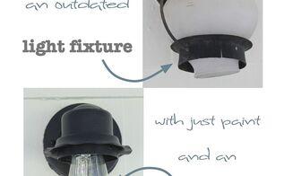 updated an old light fixture with an edison light bulb, lighting