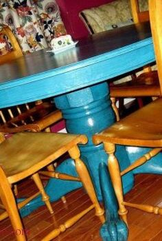 how to glaze painted furniture, painted furniture, claw foot table