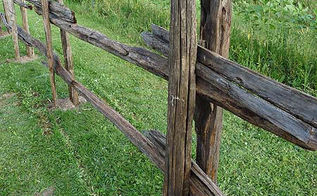 rustic split rail fence how to build a cedar rail fence, diy, fences, how to, landscape, outdoor living, repurposing upcycling, woodworking projects, Fixing rails with wire Building Instructions