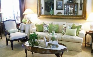 green white brown, home decor, living room ideas, All green and white