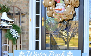 my winter front porch, christmas decorations, curb appeal, seasonal holiday decor, wreaths, winter front porch