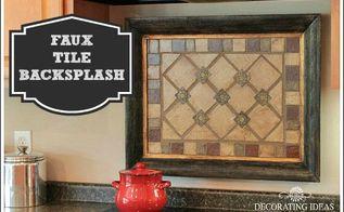 faux tile backsplash, diy, how to, kitchen backsplash, kitchen design, tiling, Instead of applying the faux tiles to the wall I placed them in a frame