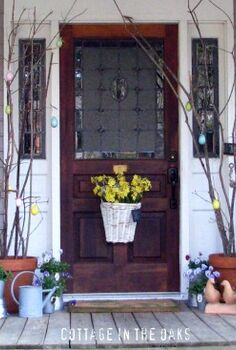 a year of front porches, curb appeal, porches, Spring Front Porch PorchPride Easter