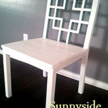 squared2 dining chairs, painted furniture, The first chair I built when no other furniture was in our eat in kitchen