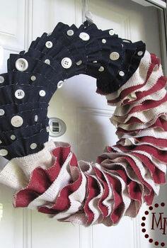 diy 4th of july wreath ideas, crafts, doors, patriotic decor ideas, seasonal holiday decor, wreaths