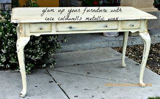 free french table goes glam, painted furniture