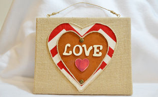 valentine burlap wall decor, crafts, seasonal holiday decor, valentines day ideas