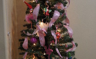 kitchen holiday tree, christmas decorations, easter decorations, patriotic decor ideas, seasonal holiday decor, Christmas Pink Flamengo Tree