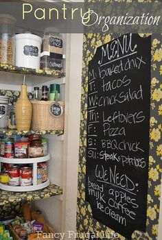 i organized my pantry with chalkboard vinyl labels canisters and baskets from, chalk paint, chalkboard paint, closet, crafts, organizing, My Pantry Makeover