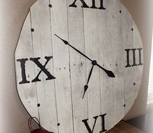 how to make a pallet wood clock, diy, how to, pallet, repurposing upcycling, woodworking projects