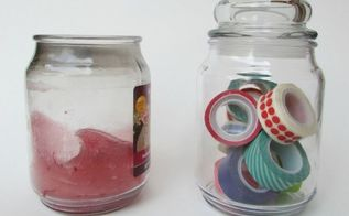 how to clean wax from candle jars, organizing, repurposing upcycling
