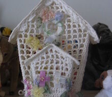 crocheted bird cage, crafts