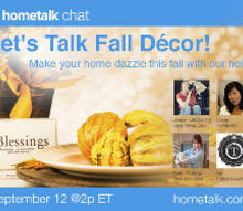 make your home dazzle this fall join the fall decorating chat, Check out some these pictures for inspiring projects by the featured guests