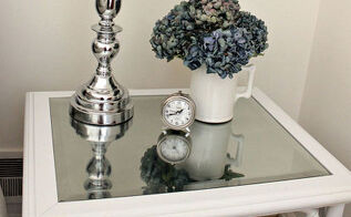 reinventing a goodwill table into a chic nightstand, painted furniture, repurposing upcycling
