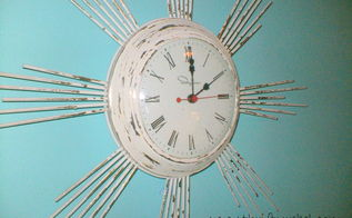 shabby chic vintage clock makeover, painting, repurposing upcycling, shabby chic, Another view of the after