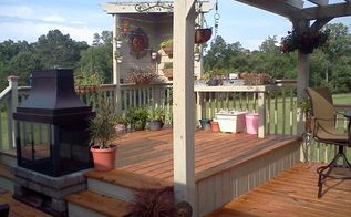 multi tier deck with pergola, decks
