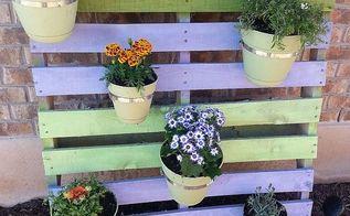 cute planter project, flowers, gardening, pallet, Cute cheap pallet project photo 2