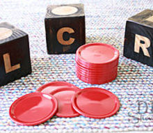 diy lcr fun party game great hostess gift, crafts, giant DIY dice game