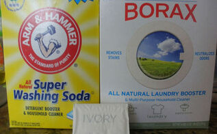 diy powdered laundry detergent, cleaning tips, 3 ingredients washing soda borax Ivory bar soap