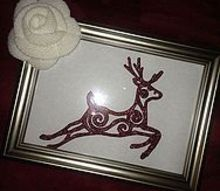 christmas decor that takes 15 minutes and is cute as can be and free, christmas decorations, seasonal holiday decor, dollar store ornament framed