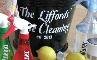 tips for green cleaning products, cleaning tips, go green, Microfiber cloths spray bottles and toothbrushes round out our cleaning bucket For more info you can check out my post here