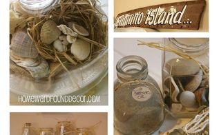 5 easy seashell display ideas, home decor, My NeSts holding shells under glass collected sand from beaches on vacations and more