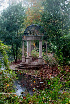 longwood gardens in the rain, gardening, And this is a Folly Read more about it on my blog