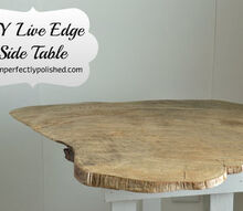 diy live edge wood side table, painted furniture, repurposing upcycling