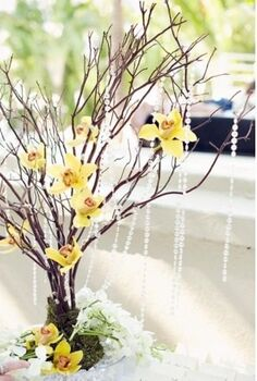 decorating using branches, home decor, Branches with bling