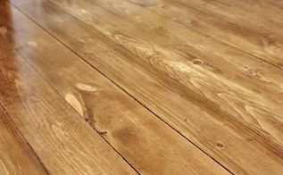 installing beautiful wood floors using basic unfinished lumber, diy, flooring, how to, woodworking projects, The finished floors