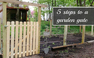 5 easy steps to a garden gate, diy, fences, how to, outdoor living, woodworking projects, Finished look of the gate I built
