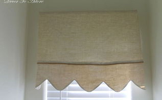 create scalloped linen valances, crafts, reupholster, window treatments, windows