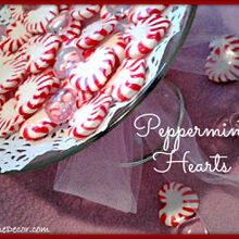 peppermint valentine hearts tutorial, crafts, seasonal holiday decor, valentines day ideas, Peppermint Valentine Hearts Tutorial