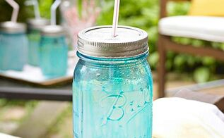 six new uses for mason jars, mason jars, repurposing upcycling, Create a neat summer drink cup