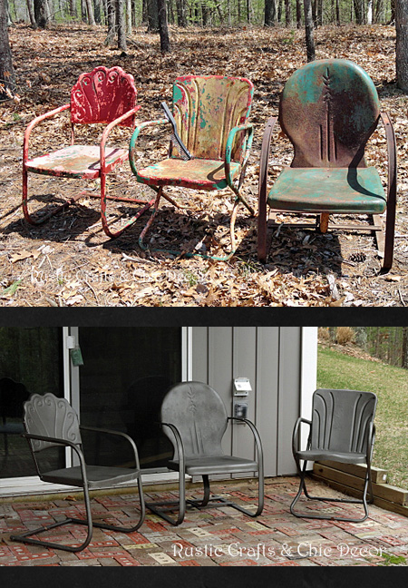 How To Paint Old And Rusty Metal Outdoor Chairs Hometalk