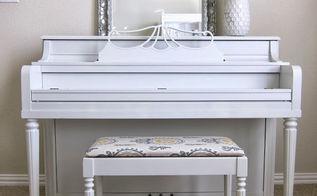 diy piano transformation, painted furniture, repurposing upcycling