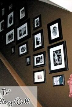 a gallery wall the thrifty way, home decor, Finished gallery wall