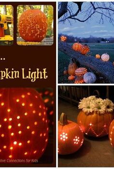 pumpkin idea, crafts, lighting, seasonal holiday decor