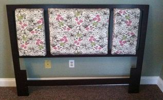 old headboard makeover, bedroom ideas, painted furniture, repurposing upcycling
