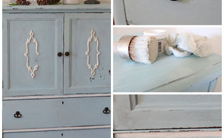 reviving a yard sale find with mms milk paint, painted furniture