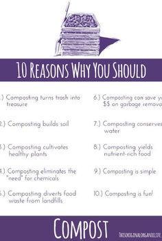 10 reasons why you should compost, composting, gardening, go green, homesteading