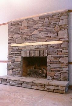 as the fireplace surround is re faced, concrete masonry, fireplaces mantels, home decor, home improvement, FINISHED All but the Mantle piece that the customer Contractor will install