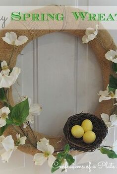 burlap and dogwood my easy and almost free spring wreath, crafts, easter decorations, seasonal holiday decor, wreaths, An easy and inexpensive spring wreath for you to make